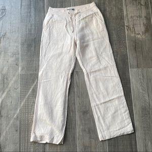 Tristan baby pink cream doubled linen pants